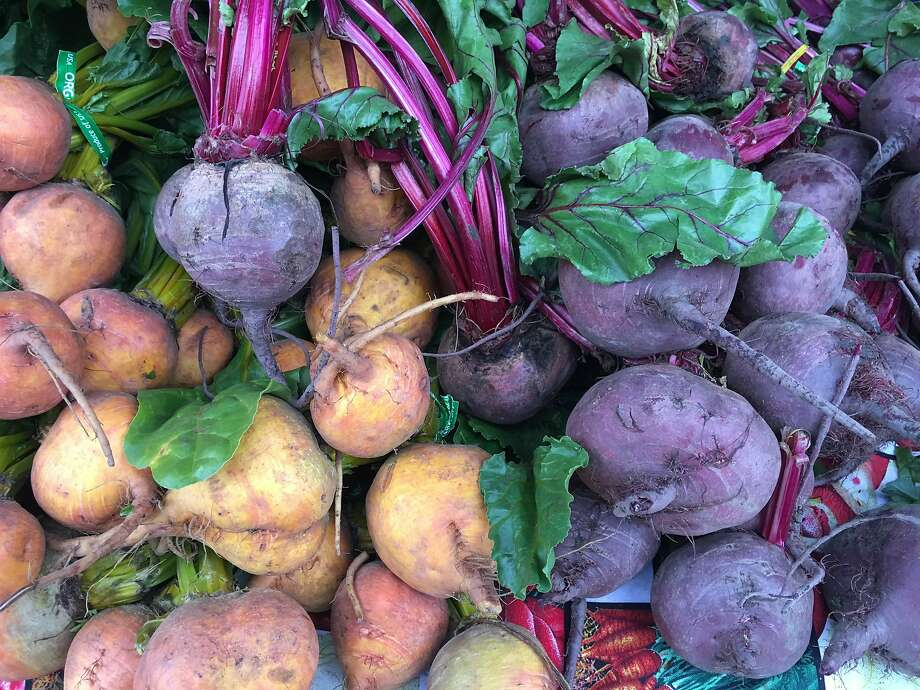 Winter farmers' markets are bursting with beets, chicories and leafy greens. Photo: Sarah Fritsche