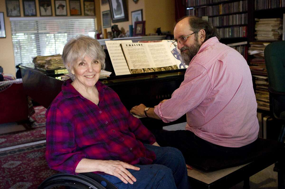 Singer Wesla Whitfield sits for a portrait with her husband and piano accompanist Mike Greensill at their home in St. Helena, Calif., on Monday, April 25, 2011.