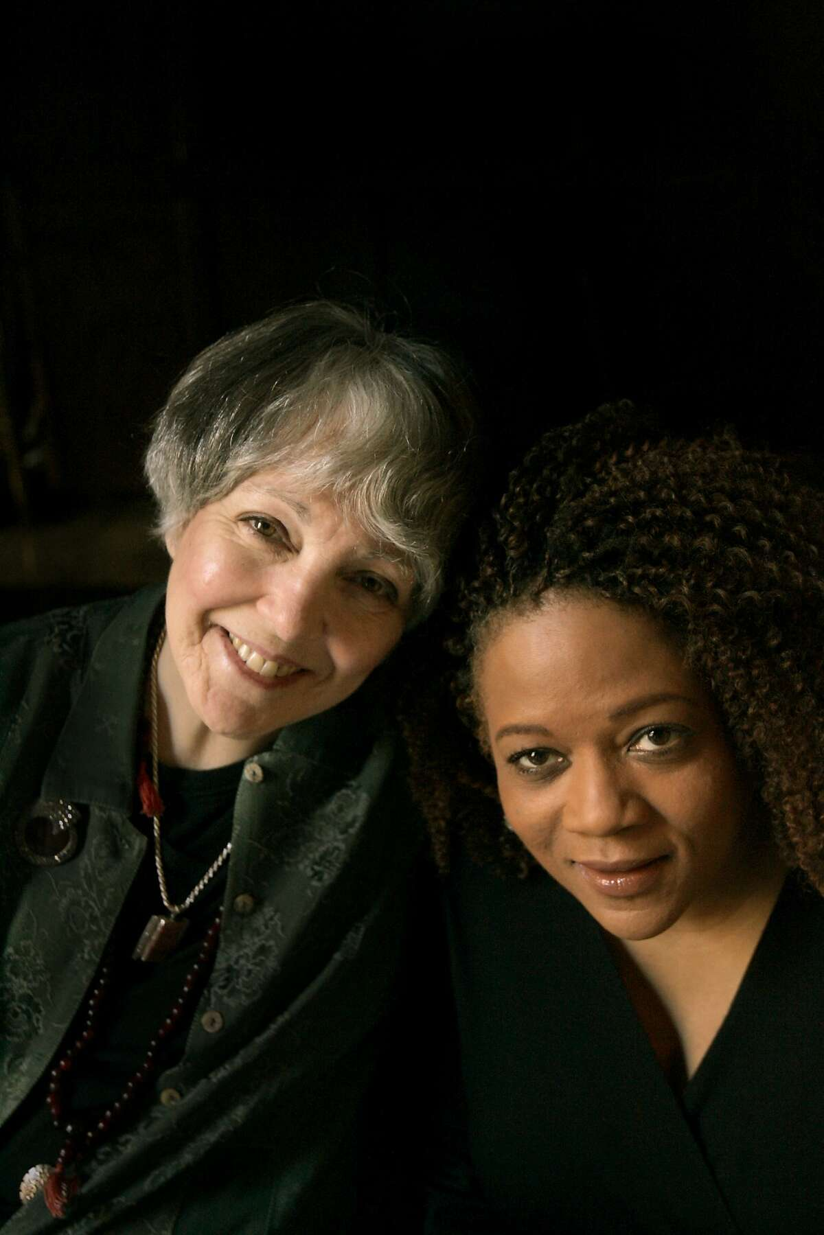 Photo shoot at the Empire Plush Room, in SF, with with jazz singers Wesla Whitfield and Paula West.