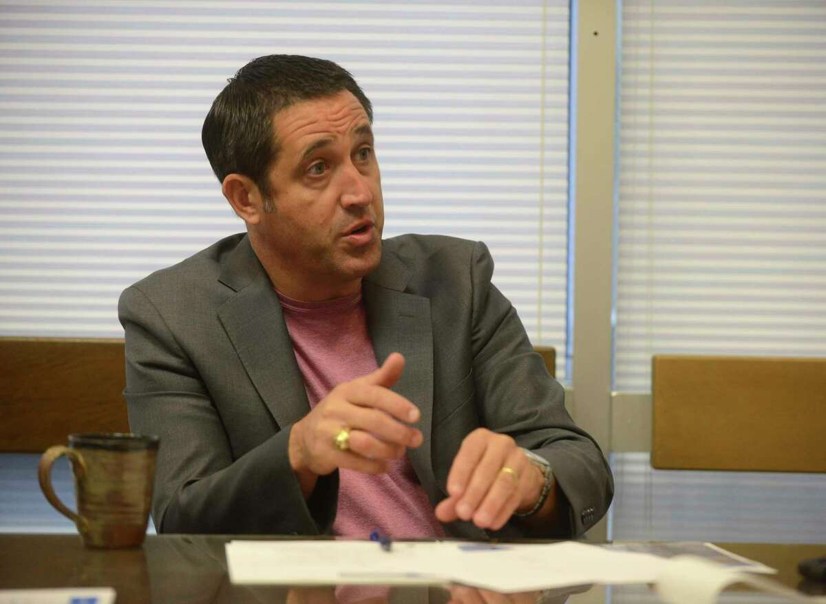 State Comptroller Glenn Hegar holds an elected position. His office keeps accountings of state funds, collects taxes, and estimates revenue and expenditures for the state of Texas. Hurricane Harvey and associated recovery expenses are going to be a challenge for Hegar. He is photographed in his Austin office on Tuesday, Oct. 10, 2017.