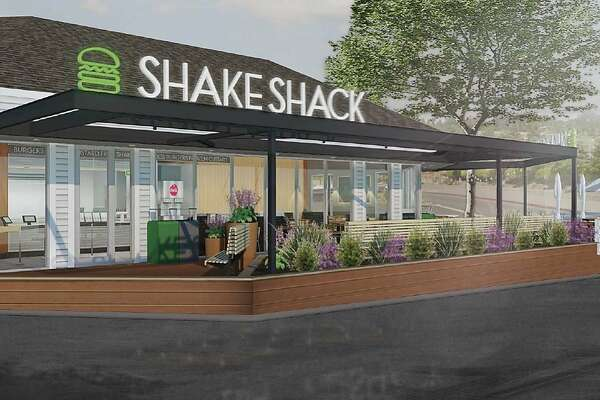 Renderings of the planned Shake Shack opening in Marin.