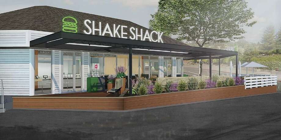 Renderings of the planned Shake Shack opening in Marin. Photo: Shake Shack