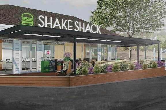 Renderings of the planned Shake Shack opening in Marin.