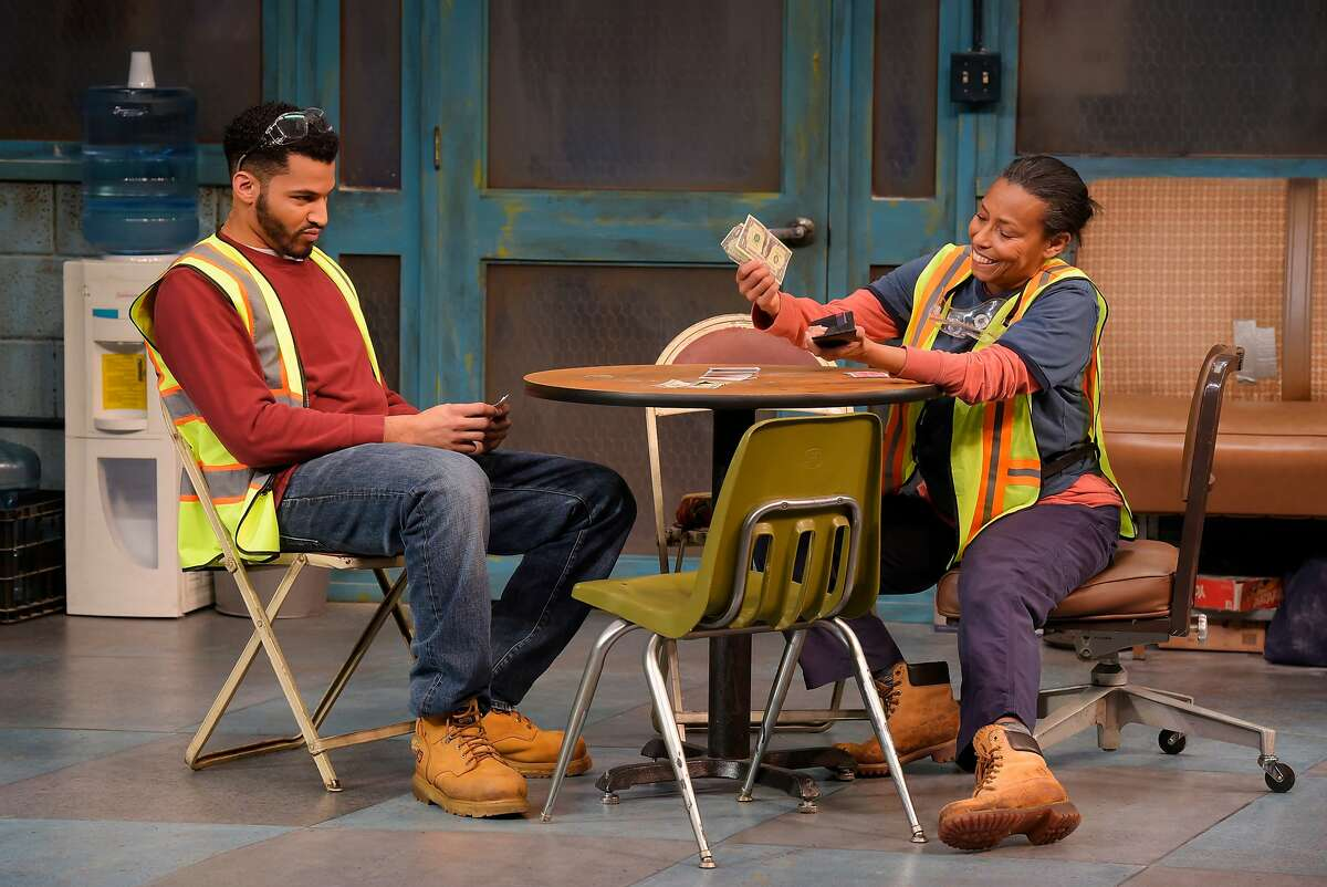 From left:�Dez (Christian Thompson) and Faye (Margo Hall) in