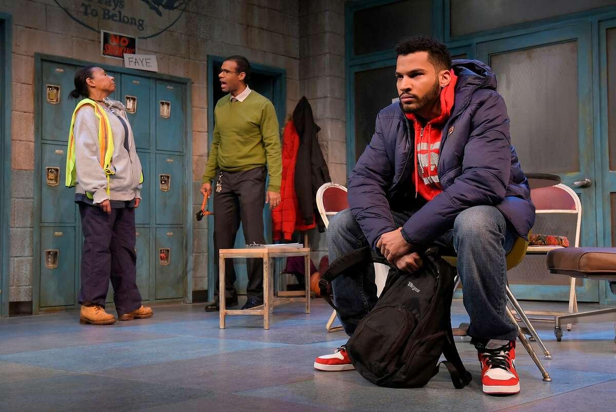 From left:�Faye (Margo Hall), Reggie (Lance Gardner) and Dez (Christian Thompson) in