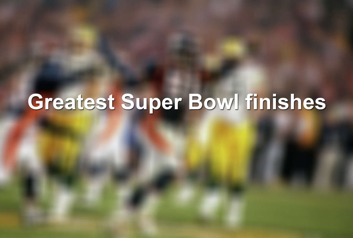 Thirteen of the greatest Super Bowl finishes.