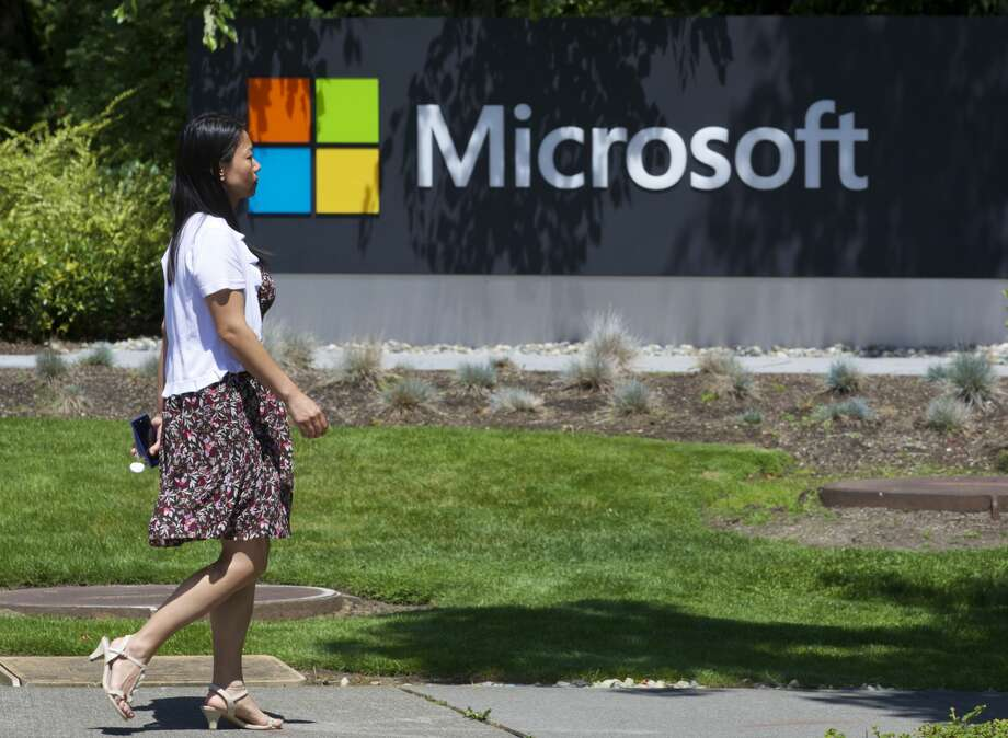 Microsoft has come under fire for their contract with ICE. Photo: Stephen Brashear/Getty Images