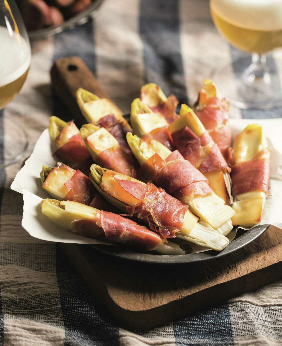 Belgian Endive with Gruyere and Prosciutto.A simple recipe will impress your guests.(this recipe is mentioned in column and on my website)