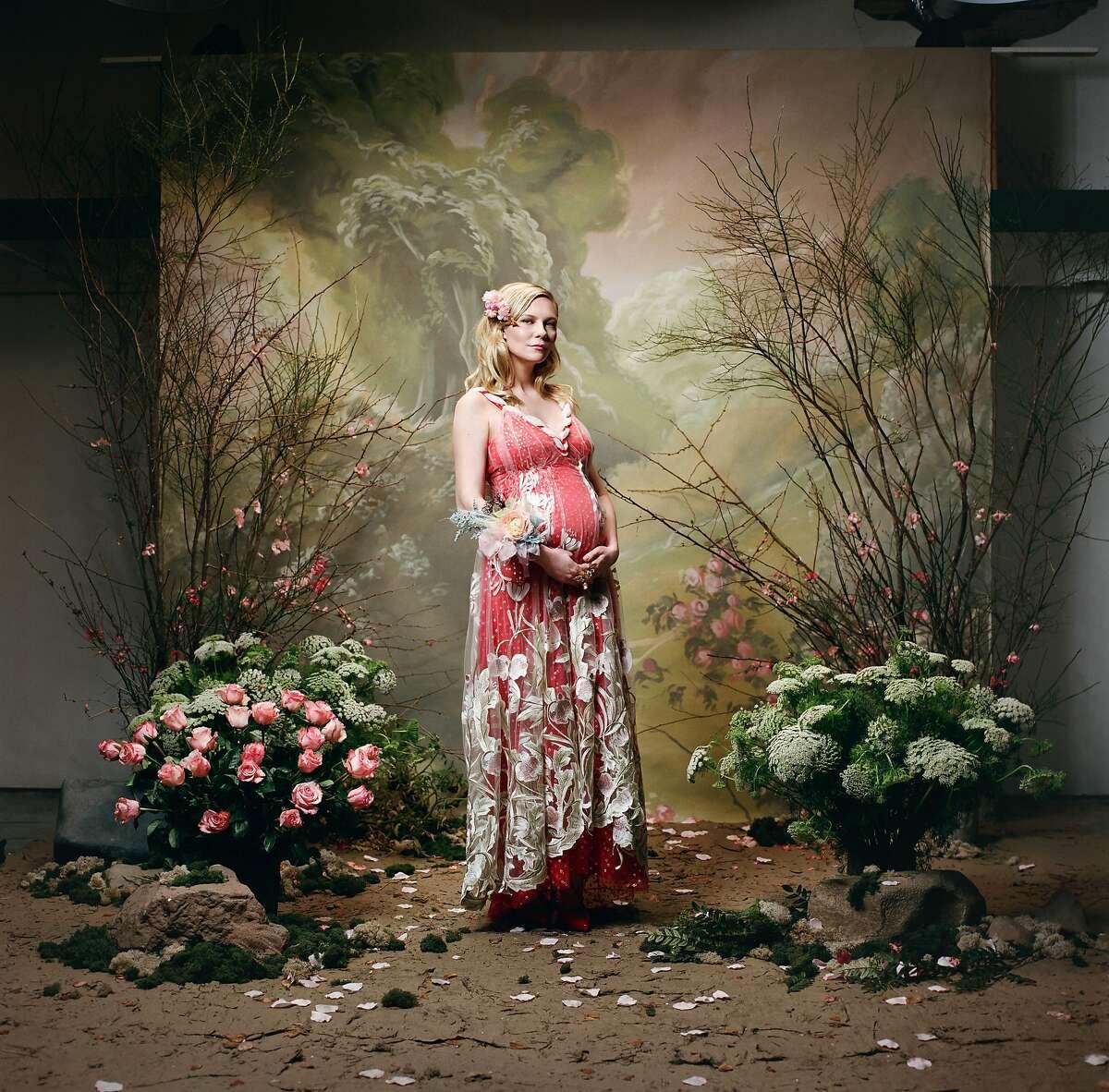 Kirsten Dunst�photographed by Autumn de Wilde as part of Rodarte's Spring 2018 portrait series.