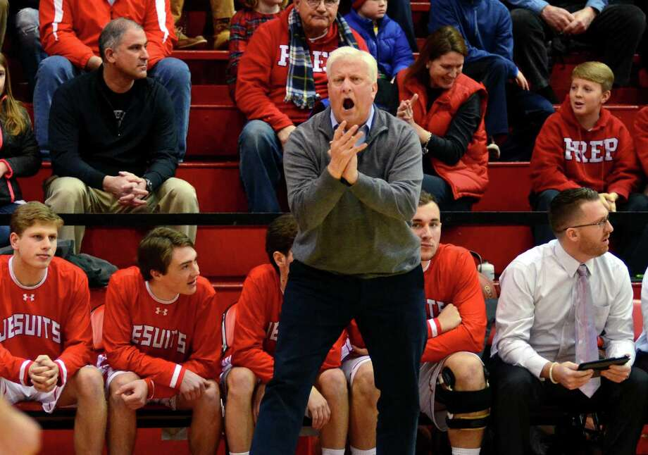 Fairfield Prep coach Leo Redgate and his Jesuits host Guilford on Wednesday night. Photo: Christian Abraham / Hearst Connecticut Media / http://connpost.com/
