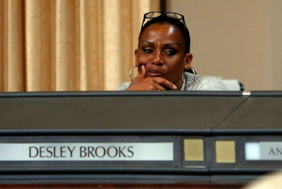 Councilmember Desley Brooks listens during a special meeting of the Oakland City Council to hear comments and discuss 2015-2017 budget  in Oakland, Calif., on Monday, June 22, 2015. Photo: Scott Strazzante, The Chronicle