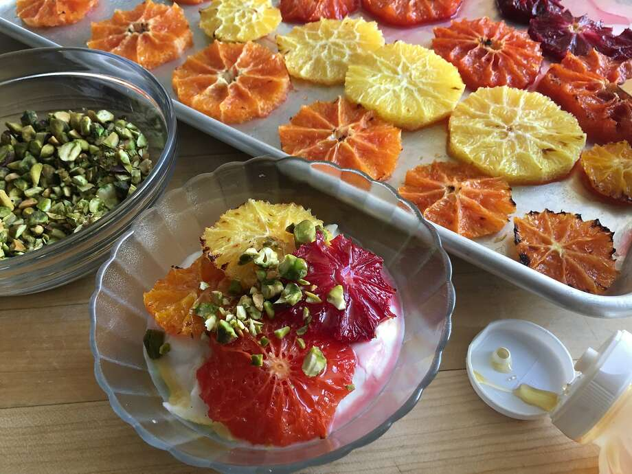 Caramelized Winter Citrus With Honey-Whipped Ricotta & Pistachios Photo: Sarah Fritsche