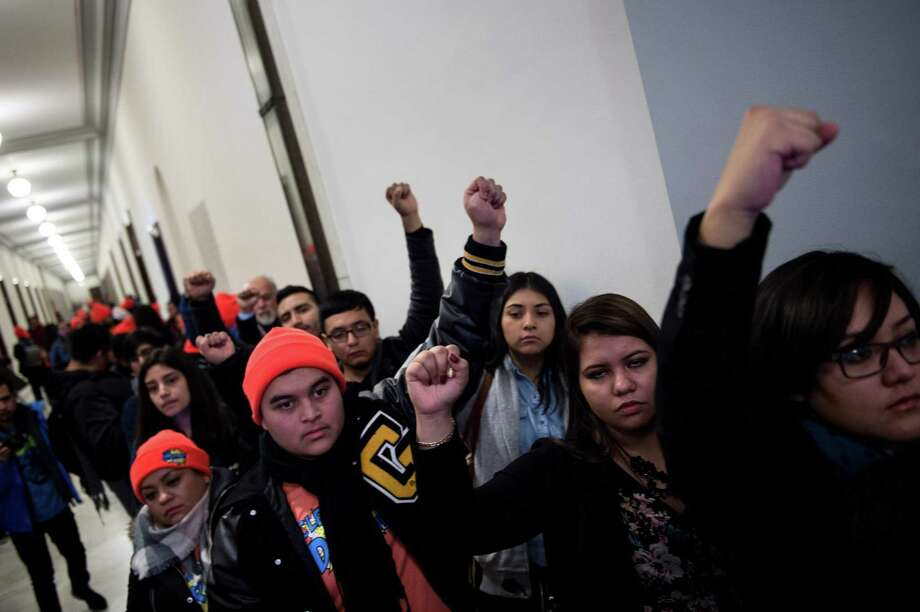 """President Donald Trump's administration has unveiled a sweeping new immigration plan to Congress that offers 1.8 million young unauthorized immigrants known as """"Dreamers"""" a path to citizenship over 10-12 years. But not every Dreamer is deserving. Photo: BRENDAN SMIALOWSKI /AFP /Getty Images / AFP or licensors"""