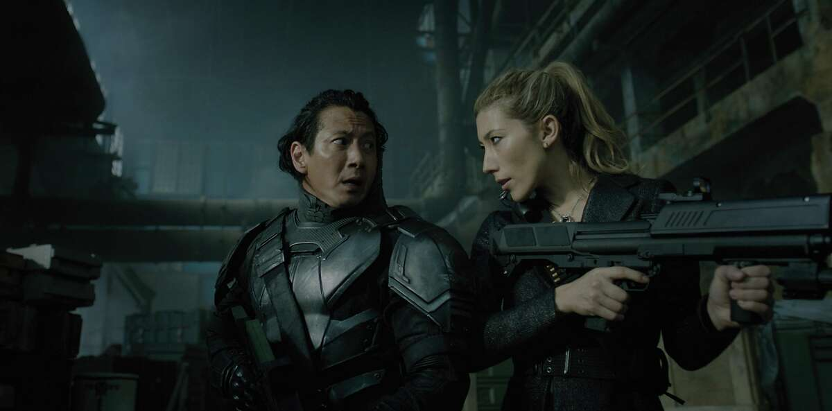 """Will Yun Lee, Dichen Lachman in the Netflix series """"Altered Carbon."""""""