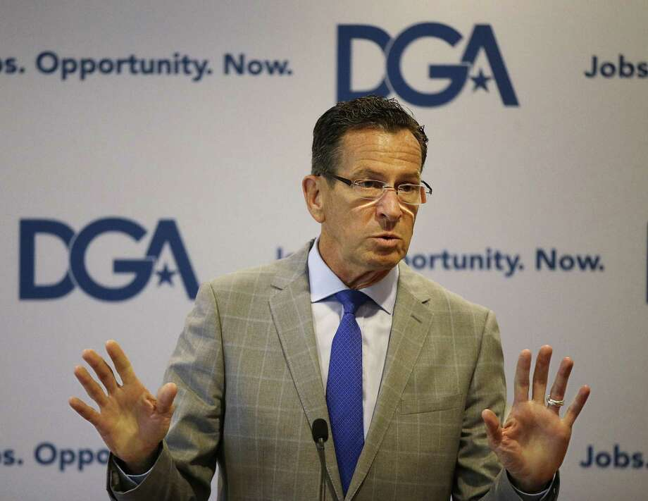 Connecticut Democratic Gov. Dannel Malloy addresses a Democratic Governors joint news conference in 2014. Photo: Stephan Savoia / Associated Press / Copyright 2017 The Associated Press. All rights reserved.