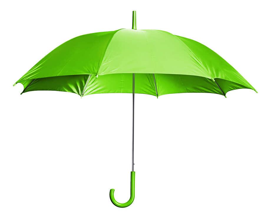 Green umbrella. Photo: Fotolia / 2happy - Fotolia