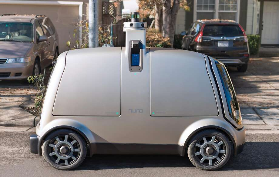 Mountain View startup Nuro has designed a self-driving vehicle specifically for deliveries. Photo: Nuro