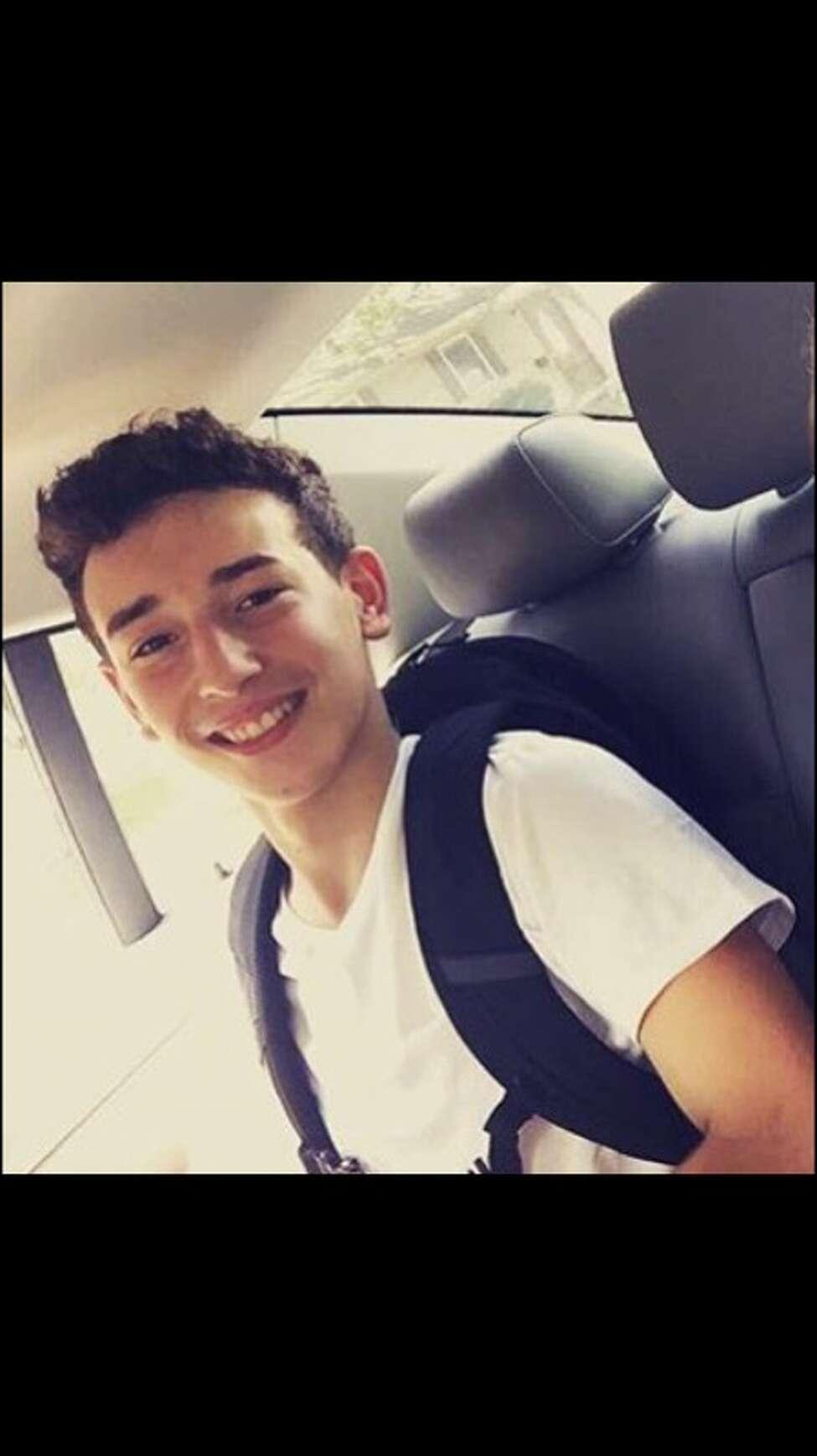 Niko Dinovo, 16, who was critically burned in a crash Friday, Oct. 28, 2016.