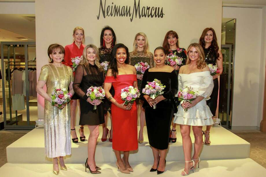 Best Dressed honorees Hallie Vanderhider, front row, from left, Millette Sherman, Claire Cormier-Thielke, Shawntell McWilliams and Lindley Arnoldy. Back row, from left, Paige Fertitta, Alicia Smith, Stephanie Cockrell, Karina Barbieri and Brigitte Kalai. Photo: Gary Fountain, For The Chronicle/Gary Fountain / Copyright 2018 Gary Fountain