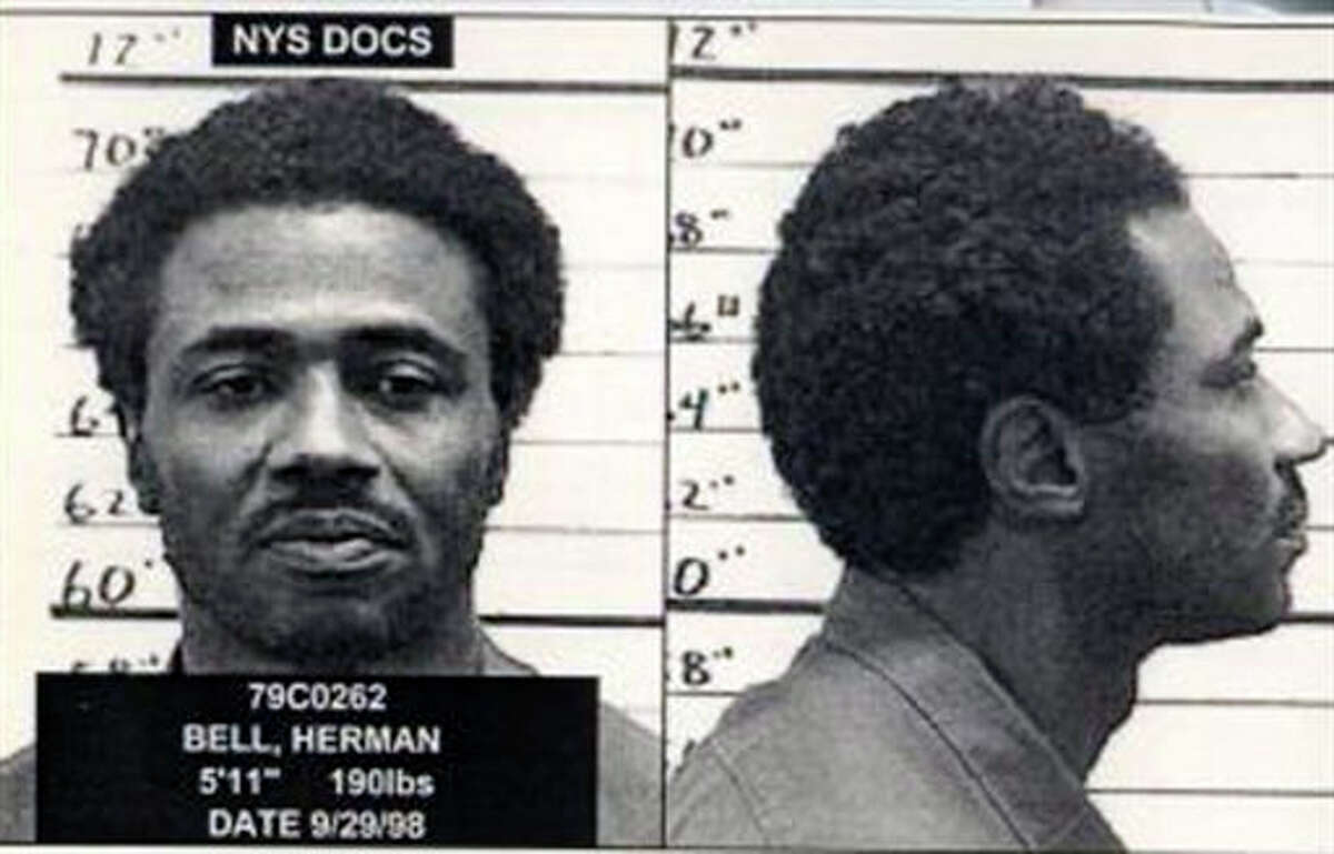 FILE - In this 1998 file photo provided by the New York State Department of Corrections and Community Supervision, inmate Herman Bell is shown. A former Black Panther sentenced to 25 years to life along with two other men in connection with the killing of two New York City police officers in 1971, Bell, now 70, argues he has reformed during 44 years in prison and is no longer a threat. But Republican members of the New York state Senate are urging parole officials to deny Bell's release. (New York State Department of Corrections and Community Supervision via AP, File)