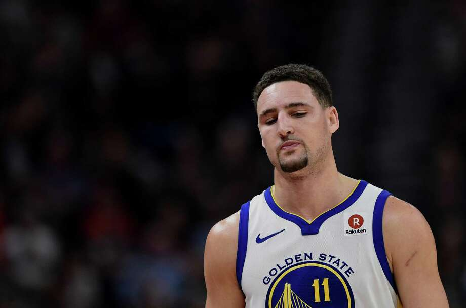 Klay Thompson during the second half of a game won by the Utah Jazz 129-99 at Vivint Smart Home Arena on January 30, 2018 in Salt Lake City, Utah. Photo: Gene Sweeney Jr. / Getty Images / 2018 Gene Sweeney Jr.