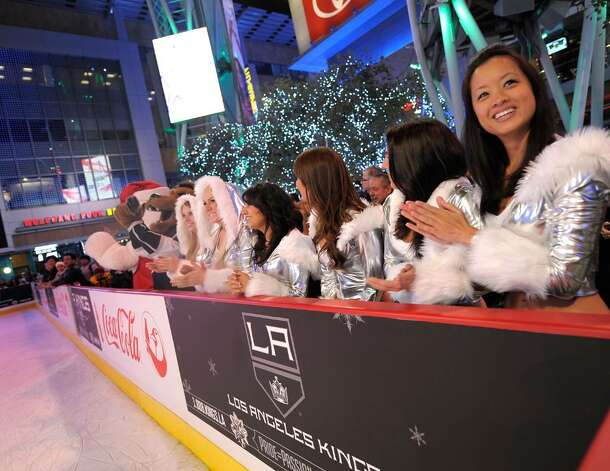A general view of atmosphere at the Holiday Tree Lighting at L.A. LIVE on December 3, 2009 in Los Angeles, California.  (Photo by Michael Buckner/Getty Images for L.A. LIVE) Photo: Michael Buckner / 2009 Getty Images