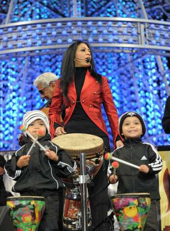 Singer Sheila E performs at the Holiday Tree Lighting at L.A. LIVE on December 3, 2009 in Los Angeles, California.  (Photo by Michael Buckner/Getty Images for L.A. LIVE) Photo: Michael Buckner / 2009 Getty Images