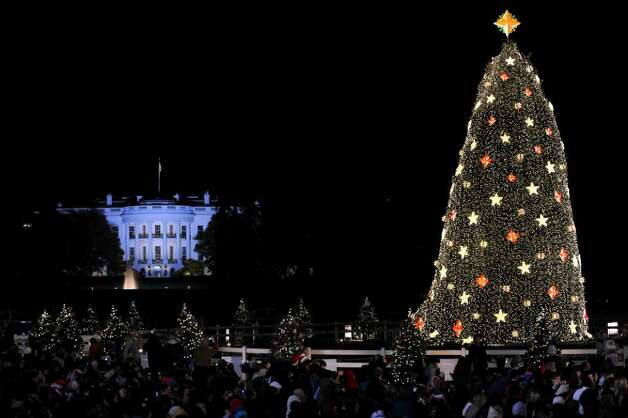 The 2009 National Christmas Tree Lighting on December 03, 2009 at Presidents Park in Washington, DC   AFP PHOTO / Tim Sloan (Photo credit should read TIM SLOAN/AFP/Getty Images) Photo: TIM SLOAN / AFP