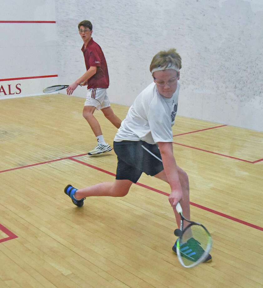 Marshall Bessey helped the GFA boys squash team advanc to the quarterfinals of the HEAD High School National Tournament at Wesleyan University on Saturday. Photo: Contributed Photo / Darien News contributed