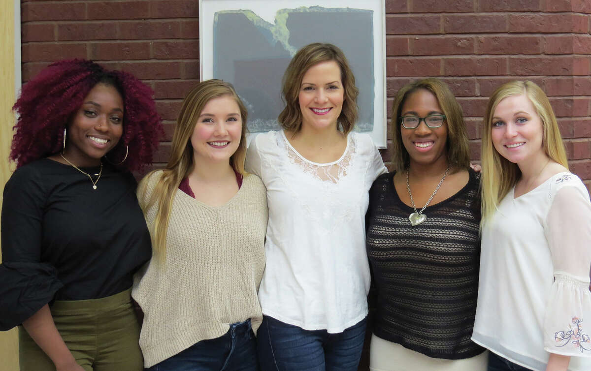 Students at SIUE are working with Professor Alicia Alexander, center, to plan and host a Girls Night Out event for I Support the Girls, a non-profit that provides support to homeless women.
