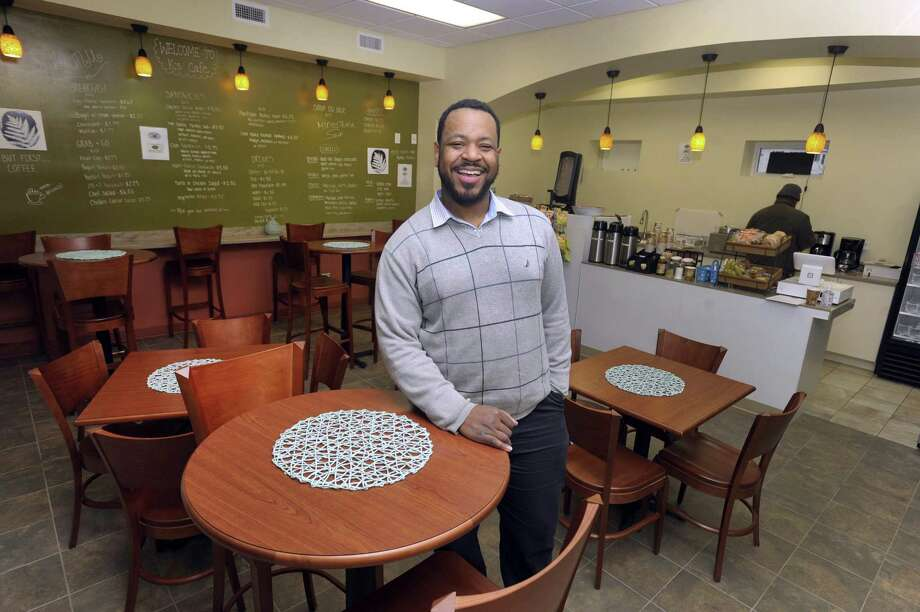 Kervin Francois, 35, of Milford, has opened up K's Cafe in a city-owned space next to the Danbury Library. Photo Tuesday, January 30, 2018. Photo: Carol Kaliff / Hearst Connecticut Media / The News-Times