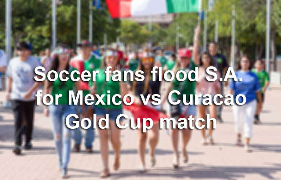 San Antonio's soccer community showed up to the Alamodome for a Sunday showdown between Mexico and Curacao on July 16, 2017. At the end of the day, Mexico beat Curacao 2-0 to win Group C. Photo: B. Kay Richter, For MySA.com