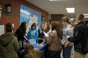 Huron County High School students attended Career Day at the Huron Area Technical Center Wednesday morning, where business and educational professional answered students' questions.