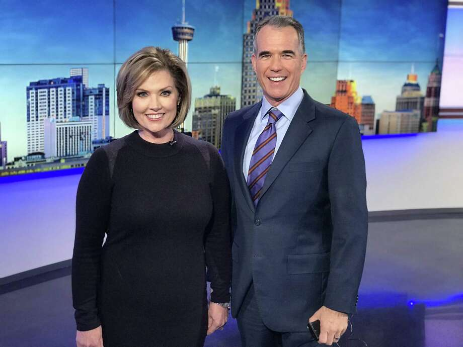 In a sly ratings move, the appealingly authoritative Deborah Knapp joins anchorman Jeff Brady on KENS' 10 p.m. news during February sweeps. Photo: KENS-TV