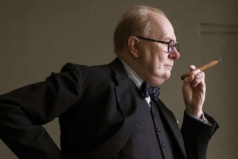 """Gary Oldman is nominated for his portrayal of Winston Churchill in """"Darkest Hour,"""" one of two films about World War II in this year's Oscar mix. Photo: Jack English, Associated Press"""