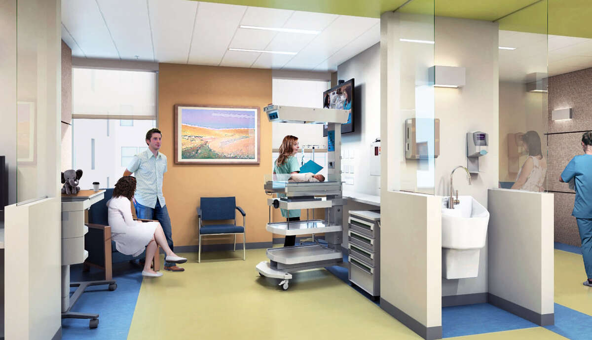 A rendering of the NICU at Bridgeport Hospital.