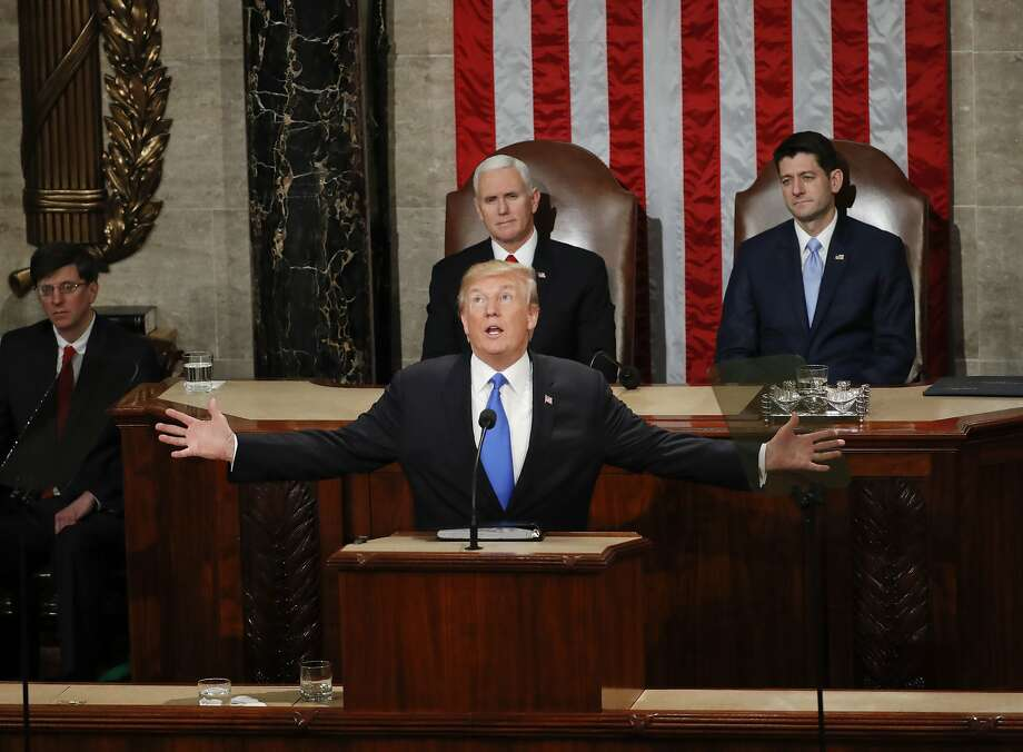 President Trump addressed a joint session of Congress. Photo: Pablo Martinez Monsivais, Associated Press