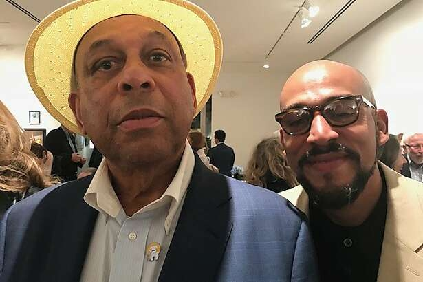Orlando and Ali Cepeda, father and son at Caldwell Snyder Gallery