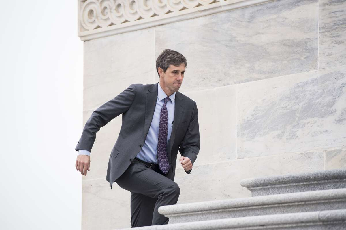 UNITED STATES - NOVEMBER 9: Rep. Beto O'Rourke, D-Texas, runs up the House steps to vote in the Capitol on Thursday, Nov. 9, 2017. (Photo By Bill Clark/CQ Roll Call)