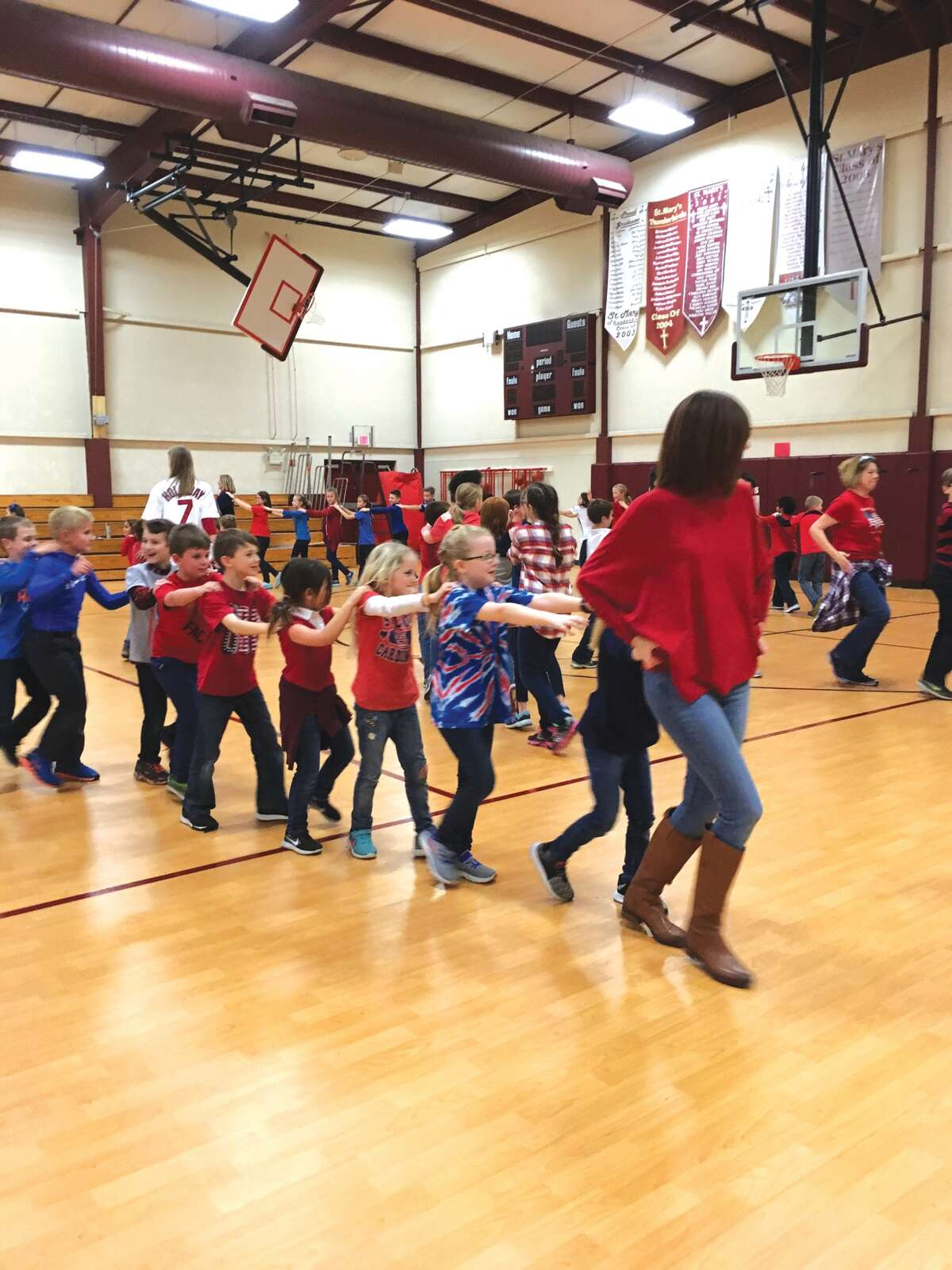 St. Mary's Catholic School conducted a sock hop Wednesday. The event was one of several that marked Catholic Schools Week. Students had an opportunity to skate at the YMCA on Jan. 28 in addition to the service acts they performed.