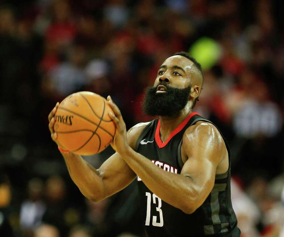 James Harden was 19-of-30 from the field and 17-of-18 from the foul line in amassing 60 points Tuesday. Photo: Steve Gonzales, Houston Chronicle / © 2018 Houston Chronicle