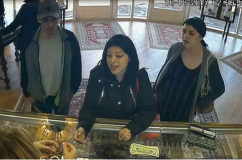 Surveillance footage from Campus Jewelers shows four suspects who allegedly stole approximately $17,000-worth of jewelry on Wednesday, Oct. 18, 2017. Photo: Wilton Police Department