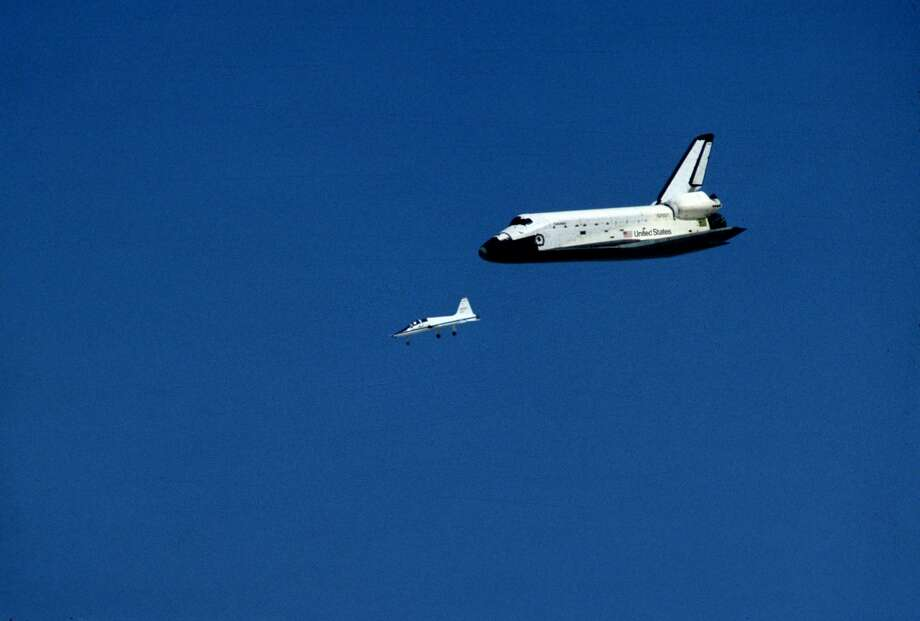 The Space Shuttle Columbia circa 1981. (Photo by Bret Lundberg/IMAGES/Getty Images) Photo: Images Press/Getty Images