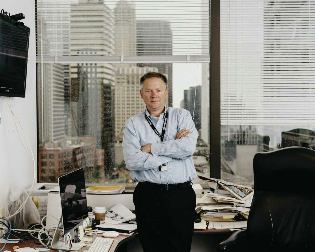 FILE Jim Kirk at The Chicago Sun-Times in Chicago, July 20, 2017. Justin Dearborn, the chief executive of Tronc, called Kirk a talented news veteran in the announcement of his hiring as editor in chief at The Los Angeles Times.