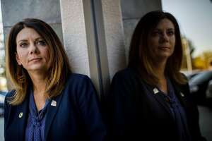 Republican Assemblywoman Melissa Melendez stands for a portrait outside her office on Thursday, October 26, 2017 in Murrrieta, Calif. Melendez has authored a bill to extend whistle-blower protections to legislative staffers for the past four years and failed. She will try again in January. Melendez says the recent sexual harassment and sexual abuse allegations in and around the Capitol highlight the need for protections for legislative staffers. � 2017 Patrick T. Fallon for The San Francisco Chronicle