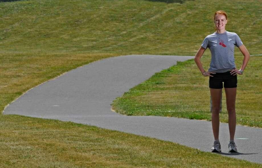 Loudonville native Elizabeth Maloy will be running in the Freihofer's Run for Women 5K race. ( Philip Kamrass / Times Union) Photo: PHILIP KAMRASS