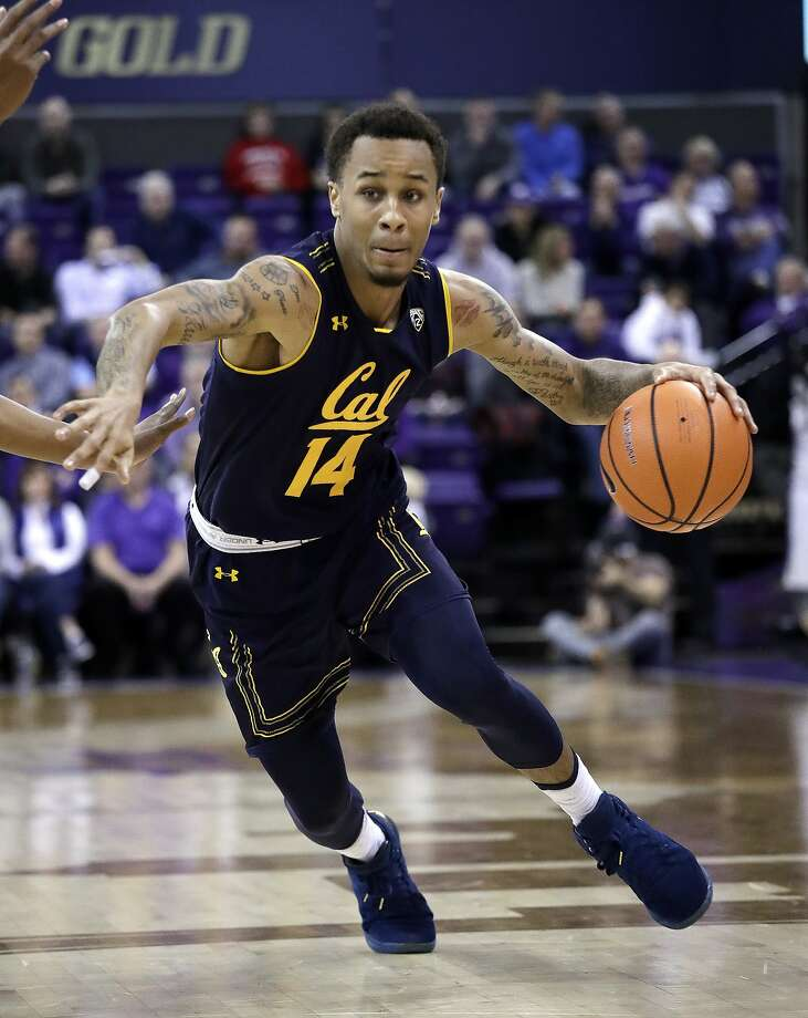 California's Don Coleman drives against Washington in the first half of an NCAA college basketball game Thursday, Jan. 11, 2018, in Seattle. (AP Photo/Elaine Thompson) Photo: Elaine Thompson, Associated Press