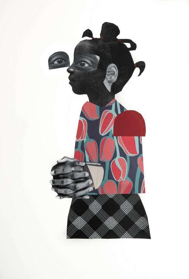 "Deborah Roberts, ""Baldwin's Promise"" (2017) Photo: Jenkins Johnson Gallery"