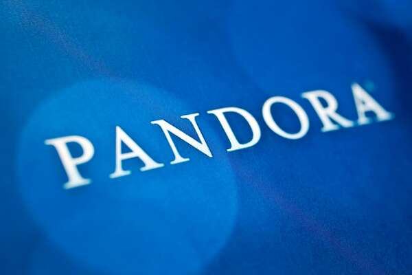 The Pandora Media Inc. logo is photographed in Washington, D.C., U.S., on Tuesday, Nov. 20, 2012. Pandora Media Inc. is scheduled to release earnings data on Dec 4. Photographer: Andrew Harrer/Bloomberg