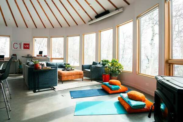 3of 6Feel Good Furniture The Couple Sourced Sustainable Furniture For The  Living Room From Los Angelesu2013based Cisco Brothers, Including The Square  Ottoman, ...